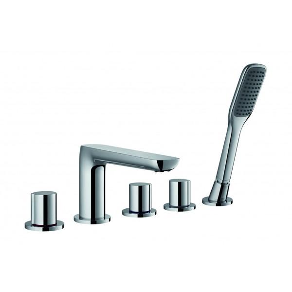 FLOVA Allore 5-hole bath and shower mixer with shower set  AL5HBSM