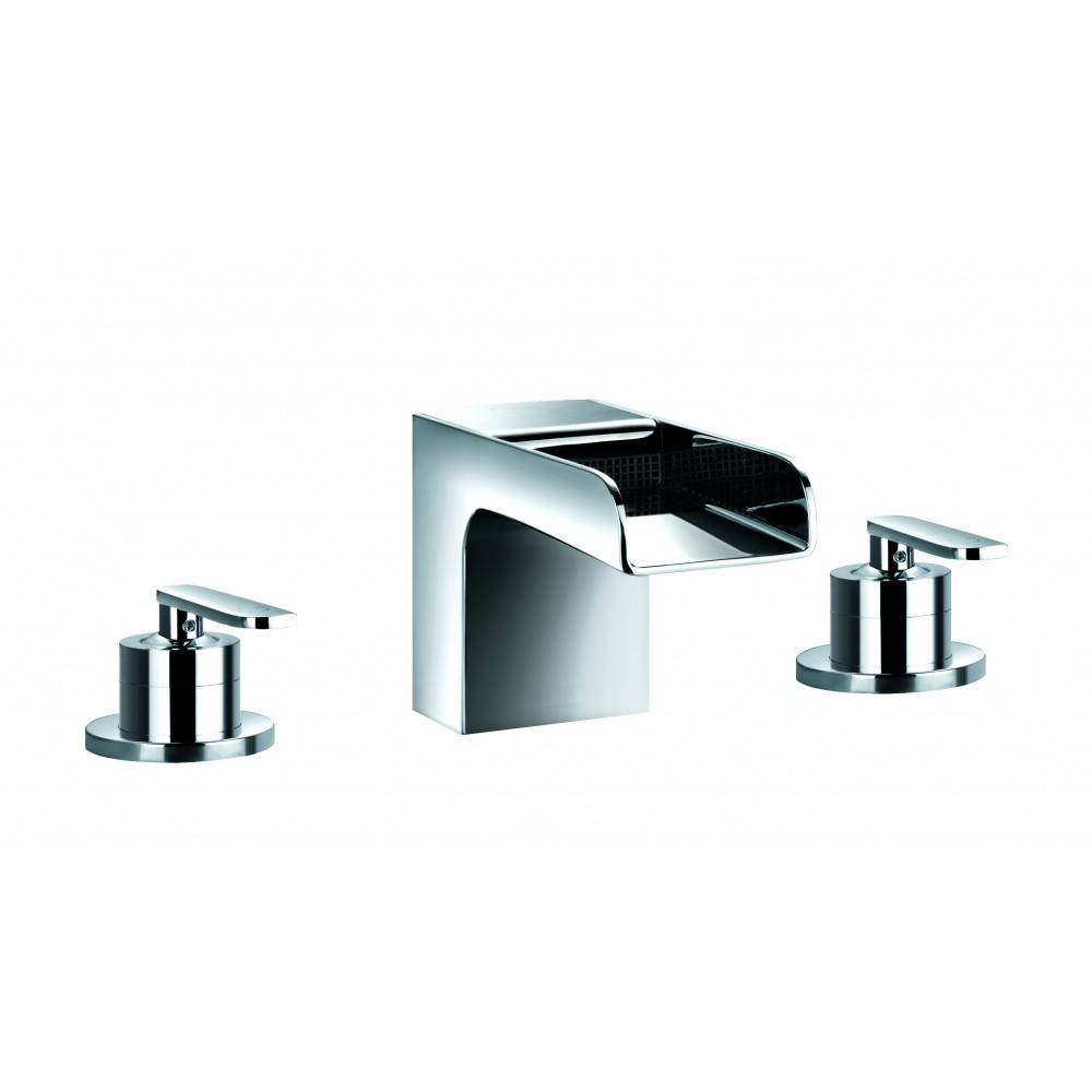 FLOVA Cascade 3-hole bath filler