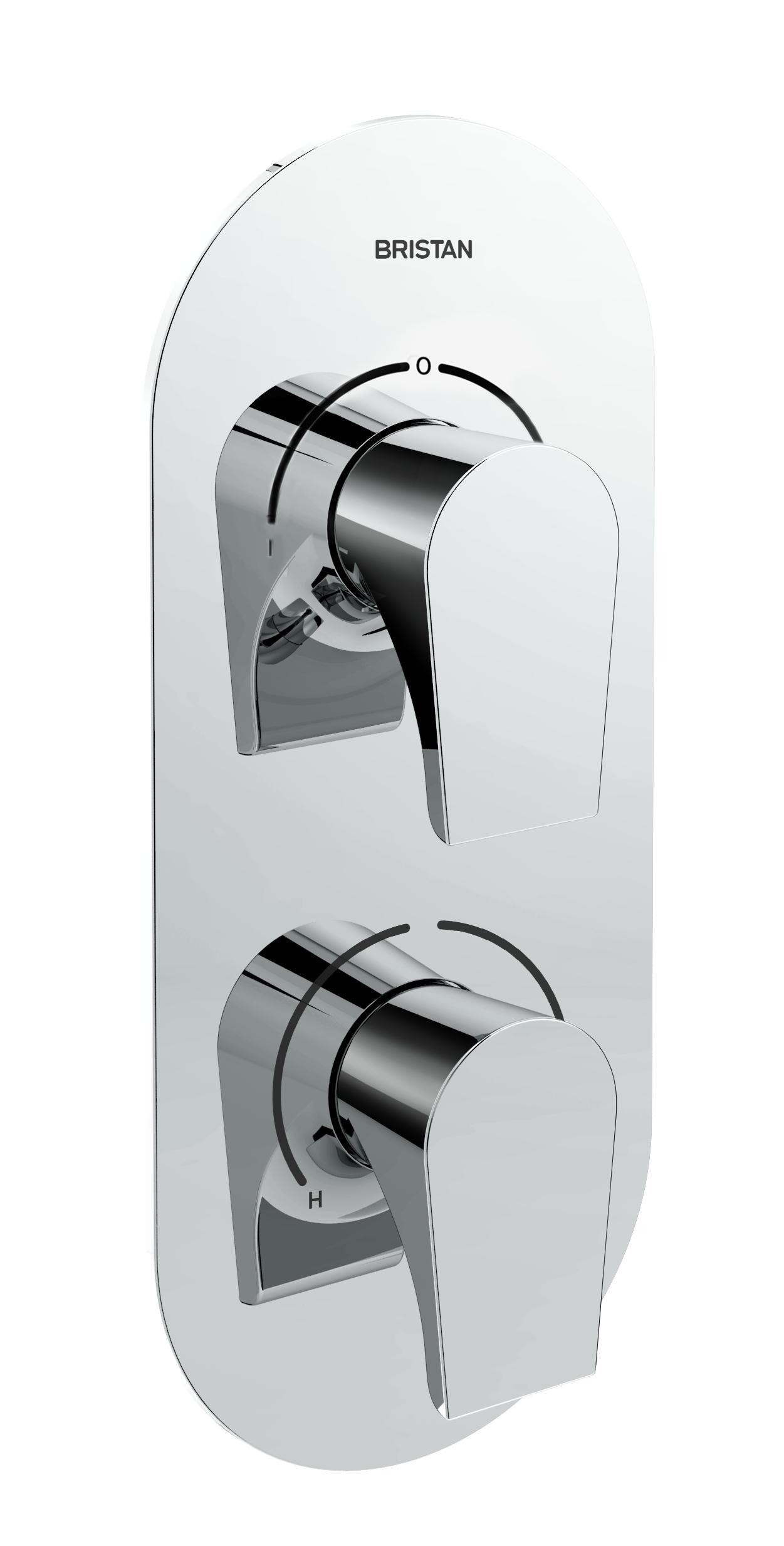 BRISTAN Hourglass Recessed Dual Control Shower Valve with Two outlet Diverter