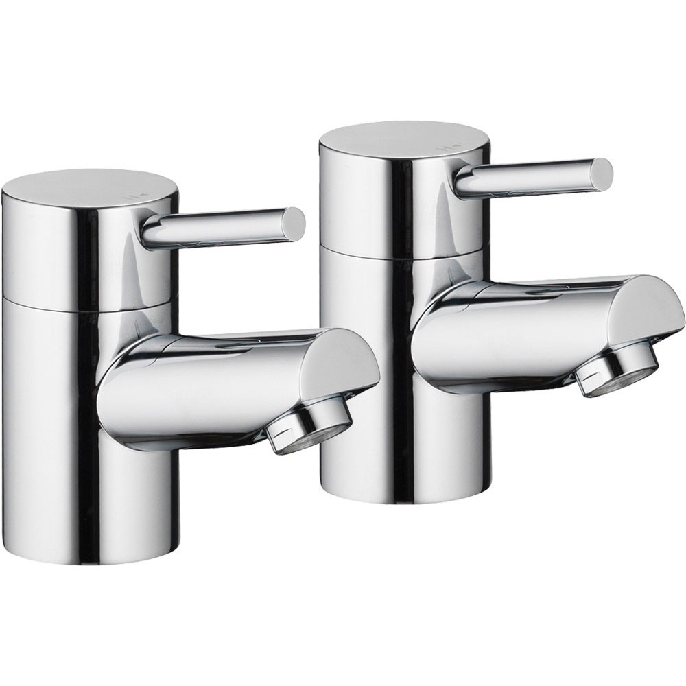 PURA - Xcite Basin Pillar Taps (Pair)  XC12
