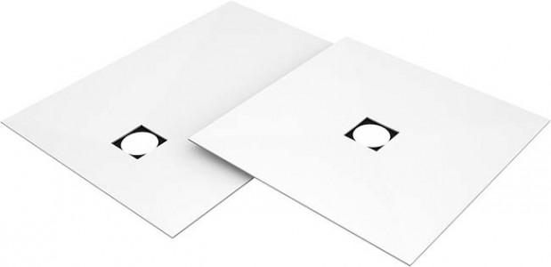 Wedi Fundo Top Primo 1200 x 1200mm - Central Drain Position (for Fundo Primo floor element 073735171) - White  [072010103]