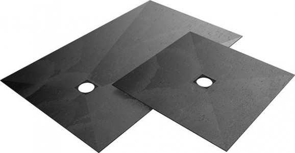 Wedi Fundo Top Primo 1600 x 1000mm - Offset Drain Position (for Fundo Primo floor element 073735152) - Carbon Black - natural stone look  [072010605]