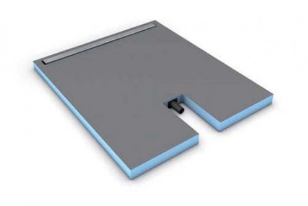 Wedi Fundo Plano Linea - Complete Shower Base with Integrated Waste 120 x 100 x 7cm with 90cm channel  [073736602]