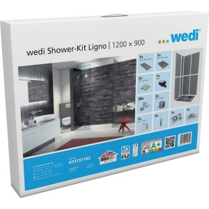 Wedi Fundo Ligno Shower Kit 1200x900x20mm  [073737102]