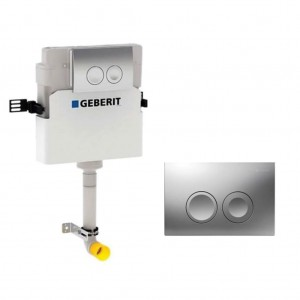 Geberit Delta concealed cistern 12cm 6/3 litres with flush plate Delta21 - Gloss Chrome [109103211]