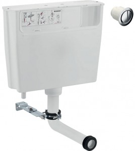 Geberit Low-height furniture cistern 6 / 3 litres remote flush actuation type 01: gloss chrome-plated [109724212]