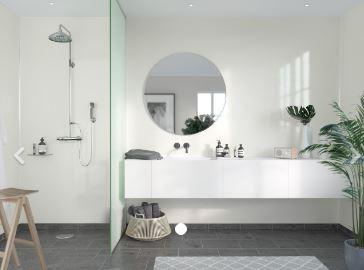 FIBO F110-HG Timeless High Gloss Aqualock Wall Panel 2400x600mm Crystal White