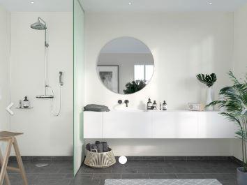 FIBO F110-S Timeless Silk Aqualock Wall Panel 2400x600mm Crystal White