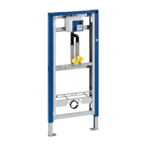 Geberit Duofix Urinal Frame - With Pipe Interrupter and Universal Housing - 130cm - for mains fed water supply [111622001]