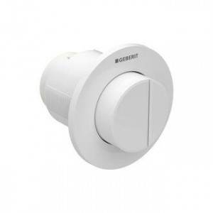 Geberit Dual Flush Button Pneumatic Type 01 - Protruding - For use with Kappa 15cm and Sigma 12cm Concealed Cisterns - Plastic - White [116044111]