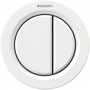 Geberit Dual Flush Button Pneumatic Type 01 - Furniture - For use with Furniture - Plastic - White [116050111]