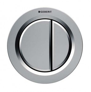 Geberit Dual Flush Button Pneumatic Type 01 - Furniture - For use with Furniture - Plastic - Gloss chrome [116050211]