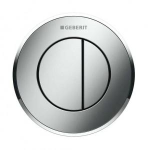 Geberit Dual Flush Button Pneumatic - Type 10 - Black / Gloss Chrome [116055KM1]