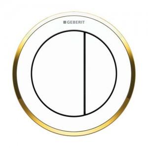 Geberit Dual Flush Button Pneumatic - Type 10 - Furniture - Black / Gloss Chrome [116057KM1]