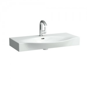 Laufen Palace Countertop Basin 90 x 38/51cm One tap hole - White [11702WH]