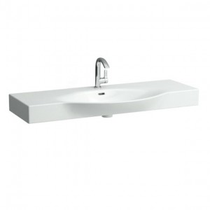 Laufen Palace Countertop Basin 120 x 38/51cm One tap hole - White [11704WH]