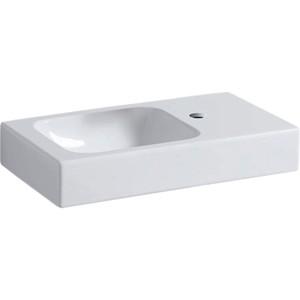 Geberit iCon Basin with Shelf 53cm One tap hole - right hand shelf - White [124053000]