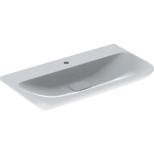 Geberit myDay Basin 100 x 48 cm. One tap hole with plastic waste cover - White [125400600]