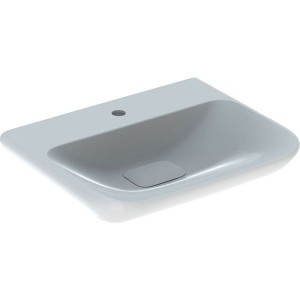 Geberit myDay Basin 65 x 48 cm. One tap hole with plastic waste cover - White [125465600]