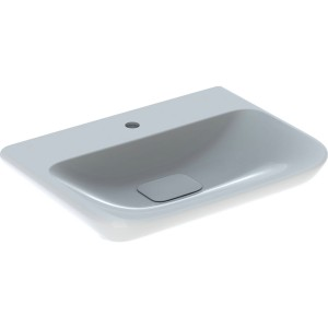Geberit myDay Basin 60 x 48 cm. One tap hole with plastic waste cover - White [125460600]