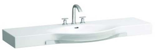 Laufen Palace Countertop Basin with Towel Rail 90 x 38/51cm One tap hole - White [12702WH]