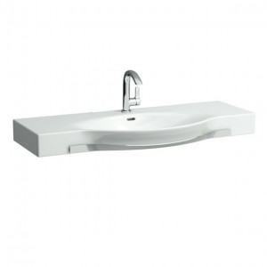 Laufen Palace Countertop Basin with Towel Rail 120 x 38/51cm One tap hole - White [12704WH]