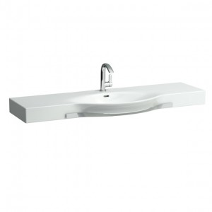 Laufen Palace Countertop Basin with Towel Rail 150 x 38/51cm One tap hole - White [12706WH]