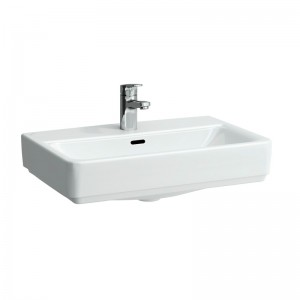 Laufen Pro S Basin Glazed All Sides 55 x 38cm One tap hole   - White [12952WH]