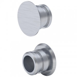 Geberit Set of fixing bolts for side cladding - brushed aluminium  [131112TA1]