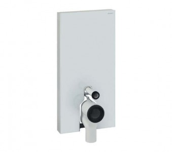 Geberit Monolith Plus for Back to Wall WC 485 x 1010h x 106cm: White Glass [131202SI5]
