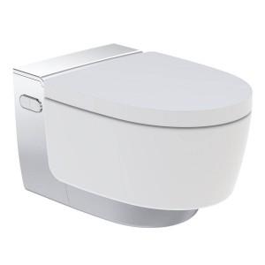 Geberit Mera Classic Rimless Wall Mounted Shower Toilet - Gloss Chrome [146200211]