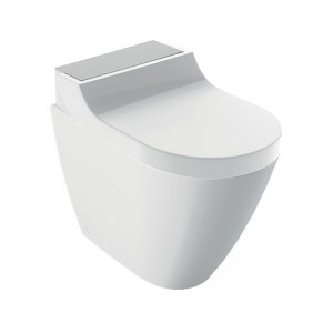 Geberit AquaClean Enhancement Solutions - Tuma Comfort Floorstanding Complete Set - Stainless Steel [146310FW1]