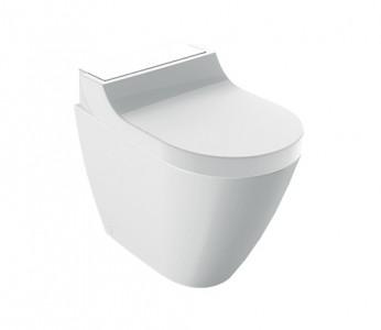 Geberit AquaClean Enhancement Solutions - Tuma Comfort Floorstanding Complete Set - White Glass [146310SI1]