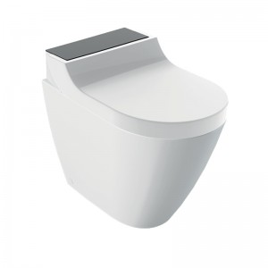 Geberit AquaClean Enhancement Solutions - Tuma Comfort Floorstanding Complete Set - Black Glass [146310SJ1]