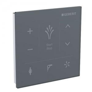 Geberit Mera Wall Panel Control - Black Glass [147038SJ1]