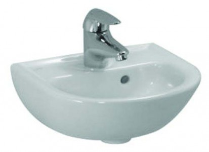 Laufen Pro Round Hand Basin 35 x 31cm One tap hole - White [15950WH]