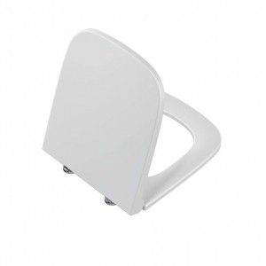 Vitra S20 177 Soft close seat and cover with chrome hinges - White [177003009]