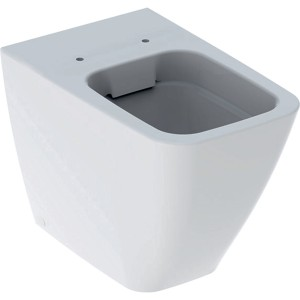 Geberit iCon Square rimless back to wall WC pan - White [211910000]