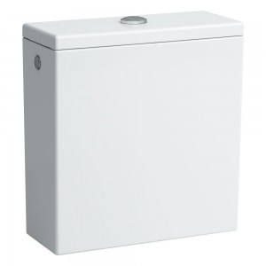 Laufen Pro Close Coupled WC Cistern & lid including top flush fittings (rear inlet) 3/6 litre - White [299510008711]