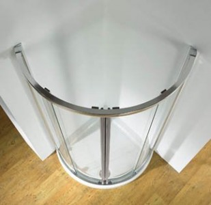Kudos Curved Shower tray 810 x 810 x 1010mm - White  [DC81WH]