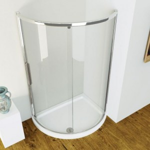 Kudos Curved plinth excluding fascia Left Hand - White  [PLCOS129L]