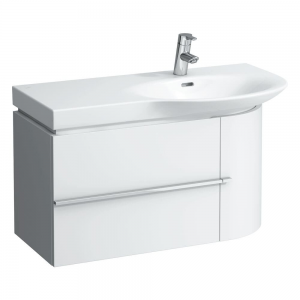 Laufen 4015010754751 Palace 84cm Vanity Unit with Single Drawer & Door Right - Gloss White