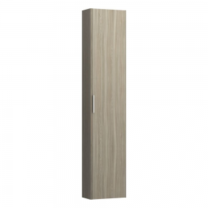 Laufen 4026411102621  Pro S 165cm Tall Cabinet Reduced Depth with Left Hinge - Light Elm