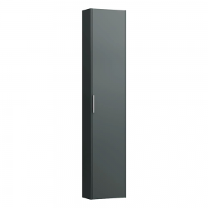 Laufen 4026411102661  Pro S 165cm Tall Cabinet Reduced Depth with Left Hinge - Traffic Grey