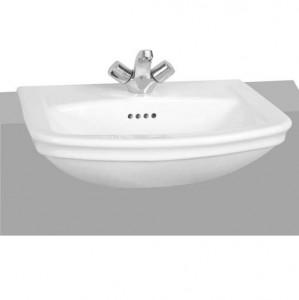 VitrA 4170WH1 Serenada Semi-Recessed Basin 565 x 485mm 1 Taphole White
