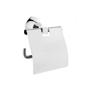 Vitra Juno Toilet Roll Holder with Cover - Chrome  [44422]
