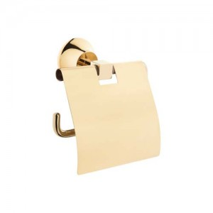 Vitra Juno Toilet Roll Holder with Cover - Gold  [4442223GOLD]