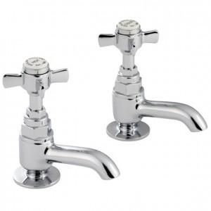 Pegler Sequel Basin Pillar Taps - Short Nose - Chrome [477030]