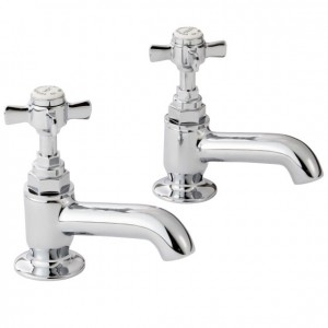 Pegler Sequel Bath Pillar Taps (Pair) - Chrome [477032]