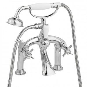 Pegler Sequel Bath Shower Mixer with Hose and Handset - Chrome [482001]